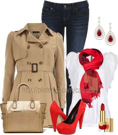"""Kiss Me Red"" by casuality on Polyvore"