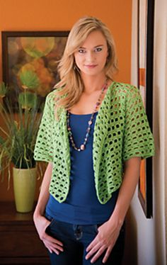 Ravelry: Midori Squares Cardigan pattern by Melissa Leapman Love of Crochet, Spring 2014 Magazine published in March 2014