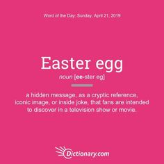 meaning of Easter egg #WordoftheDay #ESL #Vocabulary #LearnEnglish Advanced English Vocabulary, English Vocabulary Words, English Idioms, Good Vocabulary, Vocabulary Building, English Book, Learn English, Unique Words, Cool Words
