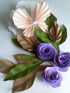 Corazones Funky-Corte Láser Adorno de oro creativo Pegatinas Purple Peach