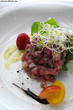 Tartare of Yellow Fin Tuna. French Lunch Cuisine at Millesime, Menara Kenchana Petroleum, near Publika. Check out our review on their set lunch menu.     http://www.placesandfoods.com/2012/05/french-lunch-cuisine-at-millesime-menara-kenchana-petroleum.html