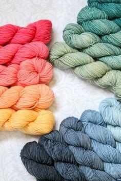 New colors in Wonderland Yarns Mad Hatter 5-Skein Pack.