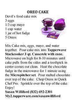 Tupperware Stack Cooker Oreo Cake