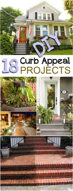 DIY Curb Appeal Projects that are easy and give your home a fresh new look.