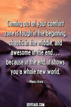 Discover the 50 best comfort zone quotes ever written. Stepping outside your comfort zone opens the door to opportunity, builds confidence, raises self-esteem and enables personal growth. Comfort Zone Quotes, Motivational Quotes, Inspirational Quotes, Take The First Step, Confidence Building, Whales, Self Esteem, All About Time, Qoutes