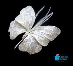 Ready to ship wedding butterfly brooch, butterfly hair  piece. $30.00, via Etsy.