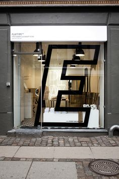 Glass facade sign at Playtype foundry and concept store by e-Types Wayfinding Signage, Signage Design, Store Signage, Directional Signage, Retail Interior, Interior And Exterior, Interior Design, Café Bistro, Desing Inspiration