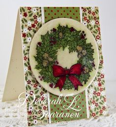 Easy to mail design using JustRite stamp and supplies from The Stamp Simply Ribbon Store