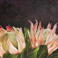 Categories Paintings Protea Art, Botanical Illustration, Art Paintings, Projects To Try, Pastel, Craft Ideas, Oil, Watercolor, Nature