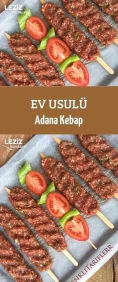 Home Style Adana Kebab - Mein köstliches Essen - Food: Veggie tables Summer Recipes, Easy Dinner Recipes, Easy Meals, Iftar, Meat Recipes, Snack Recipes, Cooking Recipes, Good Food, Yummy Food