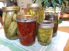 how to pickle: variety of pickled vegetables
