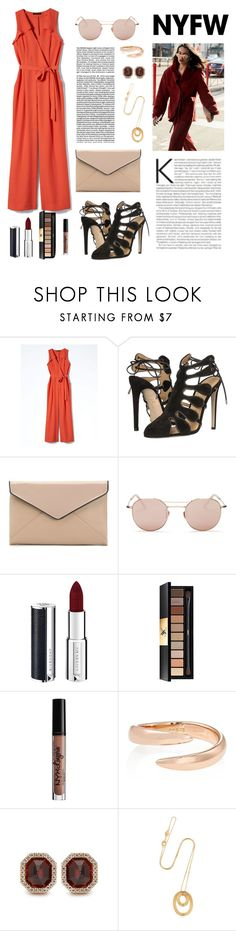 """NYFW Street Style"" by windrasiregar on Polyvore featuring Banana Republic, Chloe Gosselin, La Diva, Krewe, Givenchy, Yves Saint Laurent, Charlotte Russe, Eva Fehren, Monique Péan and Pamela Love"
