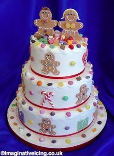 Gingerbread Couple Cake