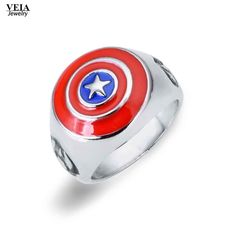 2016 Hot Movie Captain America ring Avengers Age of Ultron Ring Jewelry Mens Womens Fashion Vintage punk new xmas