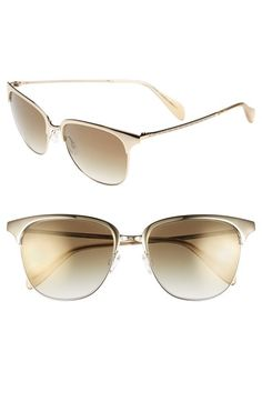 Oliver Peoples 'Leiana' 55mm Sunglasses Soft Gold/ Bronze One Size by: Oliver Peoples @Nordstrom