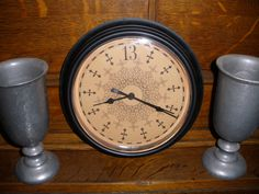 re-purposing a cheapo clock by adding a free printable 13th hour printable.