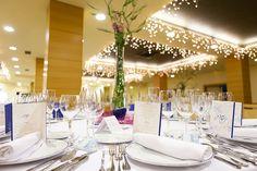 Interior del salón Atlántico preparado para boda #bodas