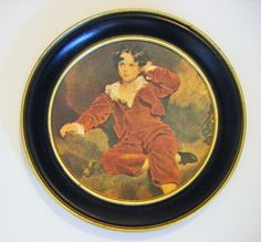 """Vintage """"The Red Boy"""" Painting by Sir Thomas Lawrence Wall Hanging by parkledge on Etsy"""