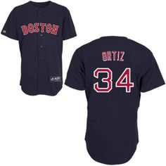 Red Sox #34 David Ortiz Embroidered Dark Blue MLB Jersey! Only $18.50USD