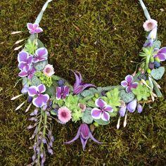 botanical necklace - design Rebecca - workshop in Bury St Edmunds, England, Francoise Weeks