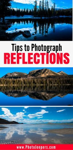 Water reflection shots can be tricky, but if you do it right, they are breathtaking! Check out these tips on how to photograph reflections in water to create stunning images. It also includes what camera settings you need to change and the best time of day to do it! Don't forget to save this to your photography board.