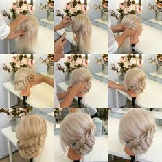 Picked up with braid - Hairstyles - # Attracted # Hairstyles - Hochzeitsfrisuren - Hochzeitsfrisuren-braided wedding updo-Wedding Hairstyles Fancy Hairstyles, Braided Hairstyles, Wedding Hairstyles, Bridesmaid Hair, Prom Hair, Pinterest Hair, Hair Images, Love Hair, Hair Dos