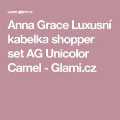 Anna Grace Luxusní kabelka shopper set AG Unicolor Camel - Glami.cz