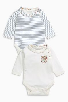 Buy Ecru Stripe Bodysuits Two Pack (0mths-2yrs) online today at Next: Netherlands