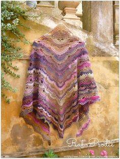 Irish crochet &: SHAWL. ШАЛЬ.