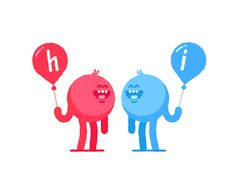 New trending GIF tagged animation happy hi 2d balloons walk...