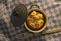 Bratapfel mit Maronenfüllung und Orangen-Crumble