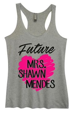 Womens Tri-Blend Tank Top - Future MRS. Shawn Mendes
