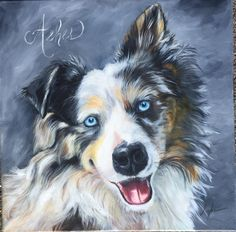 This is Ashes-such a quirky personality Painting Portraits, Dog Portraits, Dog Drawings, Animal Drawings, Paintings I Love, Dog Paintings, Border Collie Art, Art Articles, Herding Dogs