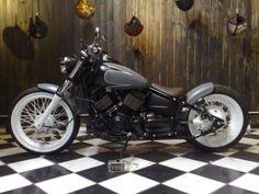 V star bobber Bobber Bikes, Bobber Motorcycle, Bobber Chopper, Cruiser Motorcycle, Honda Bobber, Vintage Motorcycles, Custom Motorcycles, Custom Bikes, V Star 650 Bobber
