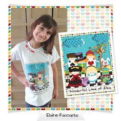 Criei uma Estampa para camiseta com o Kit Digital * Wonderful Land of Alice* de Scrappiness !!    Kit Aqui : http://www.scrappinessdesigns.com.br/store/index.php?main_page=product_info=1_2_id=79