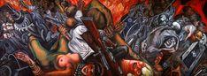 Este mural está como obra permanente en el Museo del Palacio de Bellas Artes en la Ciudad de México, José Clemente Orozco lo pintó entre 1934 y 1935 y expresa su repudio por la crueldad y corrupción de la sociedad moderna.