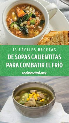 For a cold day, nothing that a delicious warm soup does not comfort, here we give you different and easy recipes that you can prepare and pamper yourself at home. Cheap Meals, Easy Meals, Cooking Recipes, Healthy Recipes, Easy Recipes, Mexican Food Recipes, Ethnic Recipes, Light Recipes, Bon Appetit