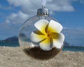 Hawaiian Christmas Ornament. $22.00, via Etsy.