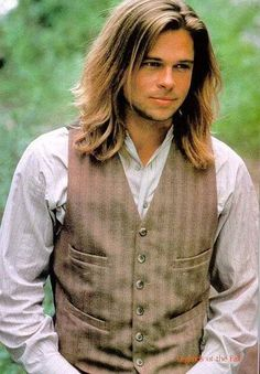 More Brad Pitt with long hair.  This is from Legends of The Fall. I dont know why he ever cut his hair.