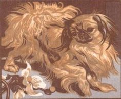 Pekingese by PC BRESSLERN-ROTH 1935 Pekingese Puppies, Lion Dog, Classy Girl, Beautiful Dogs, Dog Stuff, Art Forms, Animals And Pets, Lions, Doggies