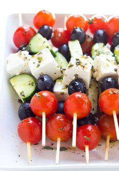 Colorful Party, Colorful Garden, Brunch, Lunch Buffet, Italian Garden, Greek Salad, Skewers, Finger Foods, Garden Design