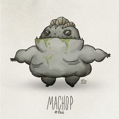 Machop #066 Part of The Tim Burton x PKMN Project By Vaughn Pinpin