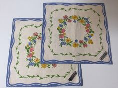 A personal favorite from my Etsy shop https://www.etsy.com/se-en/listing/463289116/vintage-swedish-set-of-2-hand-printed