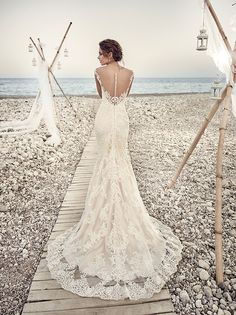 Eddy K wedding dress    Material:  Lace / Tulle      Light Gold / Ivory Skin   Ivory / Ivory Skin