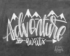 Adventure is waiting for you my friends. Get out there, enjoy time with your loved ones & happy adventuring 🗺💚🏔 . Chalkboard Art Quotes, Chalkboard Decor, Chalkboard Lettering, Chalkboard Designs, Chalkboard Calendar, Let The Weekend Begin, Chalk Artist, Chalk Wall, Chalk It Up