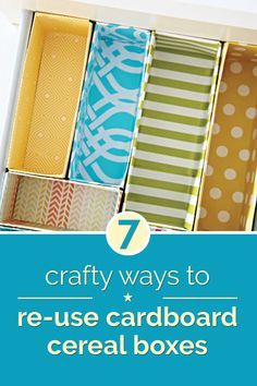 Re-purpose your cereal boxes as something useful and creative!