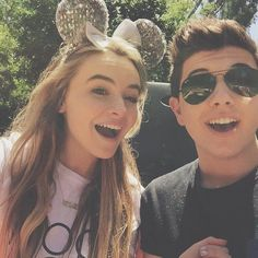 Bradley Steven Perry and his ex-girlfriend, Sabrina Carpenter....