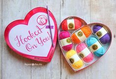 Forget about the chocolate, this is one Valentine every crocheter and yarn lover wants! I would love to open up a box of yummy yarn colors over chocolate any day And since I've made a New Year's resolution to lose my baby weight, this is the perfect gift for me! I suppose I am giving …