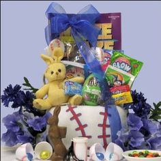 Cute easter gift basket for a boy age 6 9 37 happy holidays cute easter gift basket for a boy age 6 9 37 happy holidaysbirthdays pinterest boys baskets and sports negle Image collections