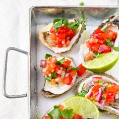 Grilled Oysters with Pico de Gallo